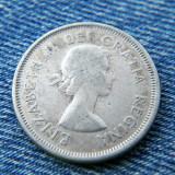 1p - 25 Cents 1960 Canada argint / Elisabeta II, America de Nord