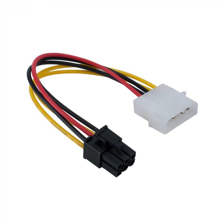 Adaptor alimentare placa video pci-e 6 pini de la molex, cablu pcie 6pini