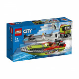 LEGO® City Great Vehicles - Transportorul barcilor de curse (60254)