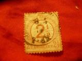 Timbru 2 1/2 gr. supratipar/ 2 1/2gr Germania 1872 scut mic, stamp.