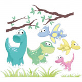 Sticker perete copii Dinozauri 110 x 97 cm