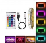 Banda LED USB pentru Iluminare Ambientala in Spatele Televizorului Backlight TV
