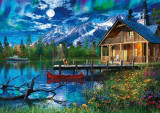 Puzzle Schmidt 500 Mountain Lake In The Moonlight