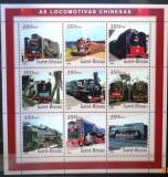 GUINEA-BISSAU 2001 - LOCOMOTIVE CHINEZESTI. BLOC MNH, DG10