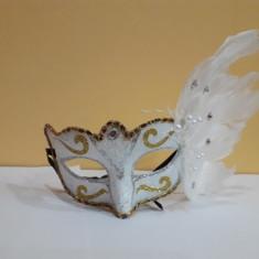 Masca venetiana de petrecere alb, Marime universala, happy people