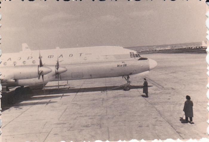 Fotografie 1950 Avion Aeroflot rusia IL-18