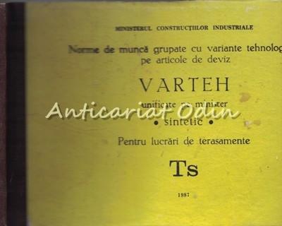 Norma De Munca Grupate Cu Variante Tehnologice Pe Articole Deviz Varteh