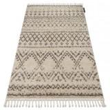 Covor Berber Rabat G0526 cremă si maro Franjuri shaggy pletos, 70x300 cm