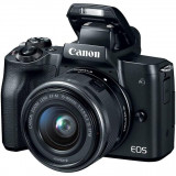 Camera foto canon eos m50 black kit ef-m15-45 is stm 24.1 mp digic 8 ecran