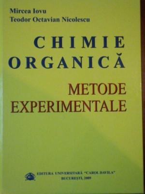 CHIMIE ORGANICA, METODE EXPERIMENTALE de MIRCEA IOVU SI TEODOR OCTAVIAN NICOLESCU foto