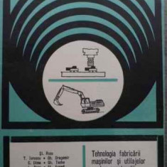 Tehnologia Fabricarii Masinilor Si Utilajelor Pentru Construc - St. Rusu T. Ionescu Gh. Dragomir C. Dima Gh. Tache,524088