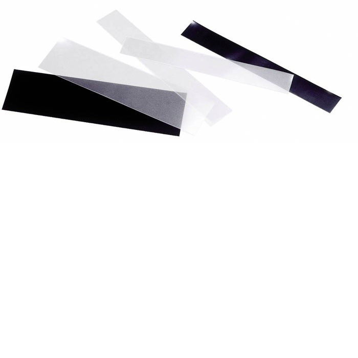 Set 100gr straifuri diverse, fata transparent, spate negru