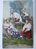 RUSIA IMPERIALA 1911 - UKRAINA - TIPURI - PERSONAJE - PORT POPULAR - ANIMATIE