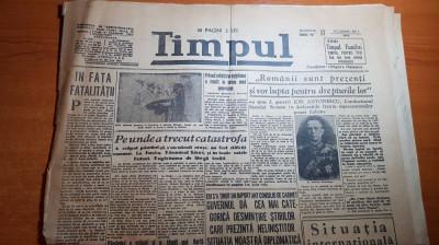 ziarul timpul 17 noiembrie 1940-ion antonescu ,regele mihai foto