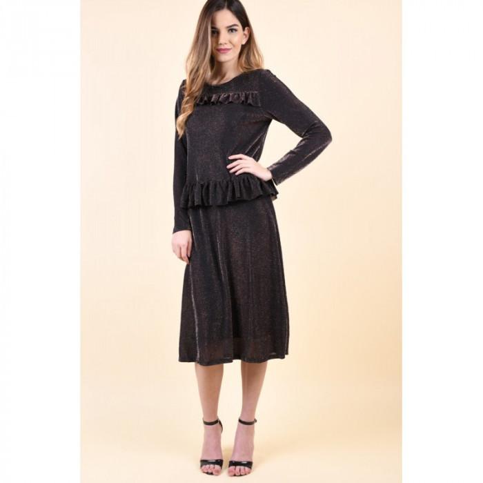 Rochie Vero Moda Denise Calf Mahogany