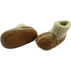 Botosei din piele si blanita de miel cu mansete tricotate - Marime 18 Altabebe MT4032L-01 B360631
