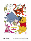 Sticker decorativ DK862 Winnie prietenii
