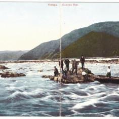 4848 - ORSOVA, Kazanele Dunarii, Romania - Double old postcard - used - 1912