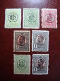 ROMANIA 1918 SUPRATIPAR PTT DREPT SI RANVERSAT MH/MNH, Nestampilat