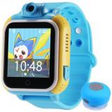 Cumpara ieftin Ceas GPS Copii, iUni Kid730, 3G, DIGI Mobil, Touchscreen, GPS, LBS, Wi-Fi, Camera, buton SOS, Blue + Boxa Cadou