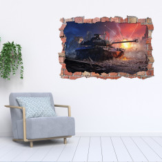 Sticker 3D perete, 60x90cm, World of tanks