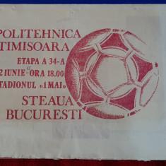 program       Poli  Timisoara   -  Steaua