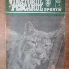 """REVISTA """"VANATORUL SI PESCARUL SPORTIV"""" , NR. 4 APRILIE 1989"""