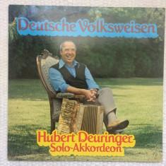 hubert deuringer deutsche volksweisen acordeon disc vinyl lp muzica populara