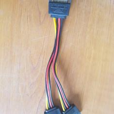 Cablu alimentare sata, adaptor SATA la 2 SATA spliter Y
