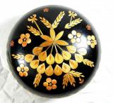 Superba bomboniera/obiect decorativ vintage din lemn, manufacturata, cca. 1940