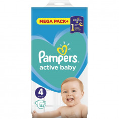 Scutece Pampers Active Baby 4 Mega Box, 132 bucati
