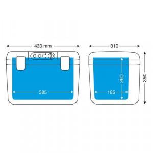 Lada frigorifica Lampa cu incalzire/racire prin sistem termoelectric Peltier, 18L, 12/24V
