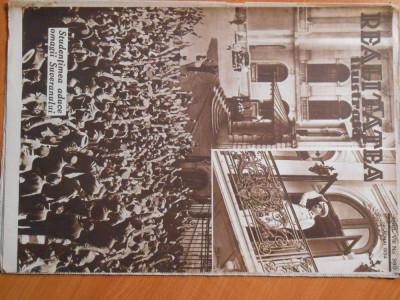 Revista Realitatea Ilustrata, 6 mai 1934, studentimea aduce omagii regelui Carol foto