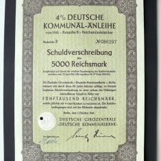 Titlu De Stat Obligatiune Germania 1941-5000-Reichsmark