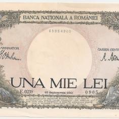 ROMANIA 1000 LEI 1941 UNC VARIANTA DE CULOARE