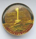 Insigna UTC Uniunea tineretului comunist Canalul Dunare Marea Neagra 1984