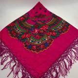 Batic etno mare Imprimeu floral panza Marsala