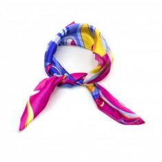 Batic dama matase silk touch fluture multicolor