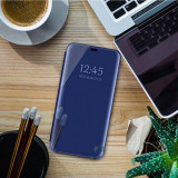 Cumpara ieftin Husa clear view Samsung A6 plus (2018), Albastru
