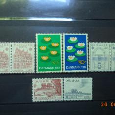 Danemarca  -  Lot serii complete**