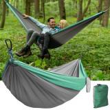 Cumpara ieftin Hamac dublu pentru camping, 260x140 cm, sarcina maxima 150 kg, cusaturi triple, husa depozitare