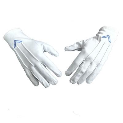 Manusi din bumbac cu simbol masonic - Echer - MM707 foto