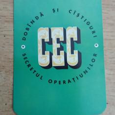 CCO 1973 - CALENDAR DE COLECTIE - TEMATICA RECLAMA CEC - ANUL 1973