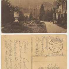 ROMANIA 1917 ilustrata Sinaia Castel Peles circulata prin posta militara germana, Printata