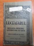 luceafarul 1 august 1919-regina maria la alba iulia,campeni,campia turdei