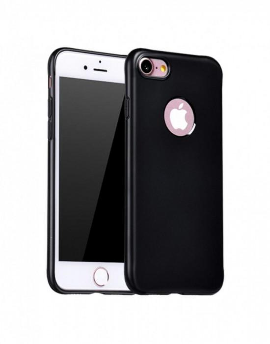Carcasa protectie spate cu suprafata mata pentru iPhone 7 Plus neagra