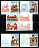 Romania 2002, LP 1582 a, Cetati sasesti din Transilvania, serie cu viniete, MNH!