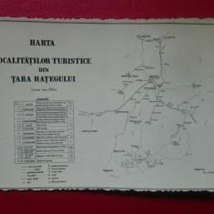 Harta localitatilor turistice din Tara Hategului