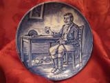 FARFURIE PORTELAN ENGLEZESC WEDGWOOD IN MINIATURA VANATOR 10.5 CM