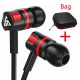 Casti jack 3.5mm cu microfon stereo pentru telefon mobil Samsung iPhone Huawei, Casti In Ear, Cu fir, Mufa 3,5mm